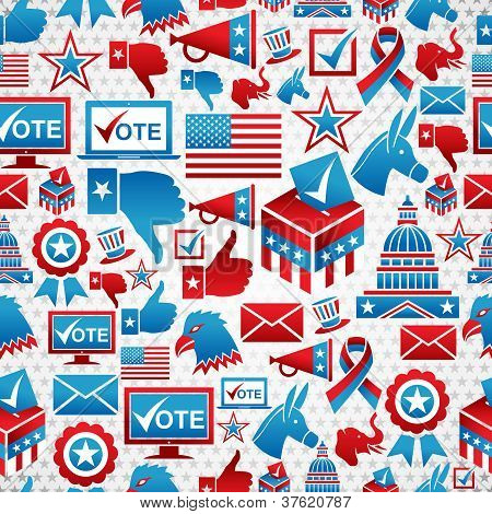 Usa Elections Icons Pattern