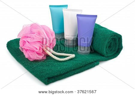 Toiletries On Towel