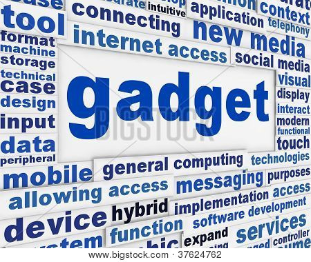 Gadget new media background