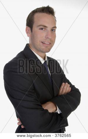 Young Businessman Posing