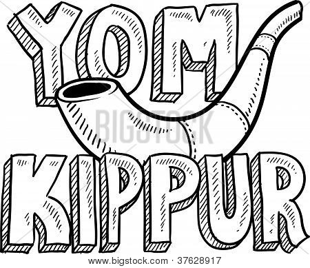 Yom Kippur holiday sketch