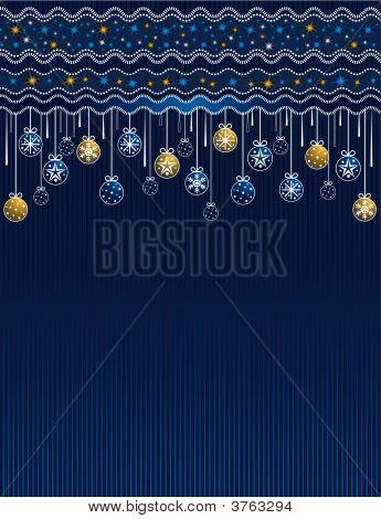 Blue Christmas Card Vector