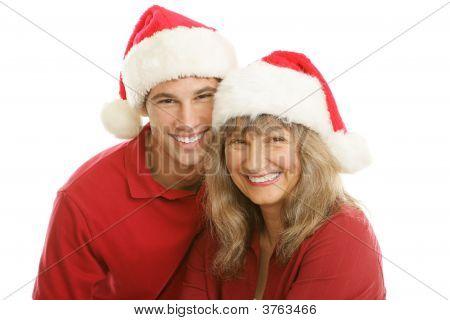 Christmas Portrait - Mom And Son