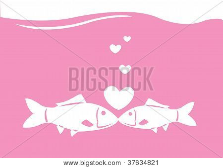 Vector Fishes Kissing