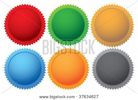 Colorful Vector Promotional Labels