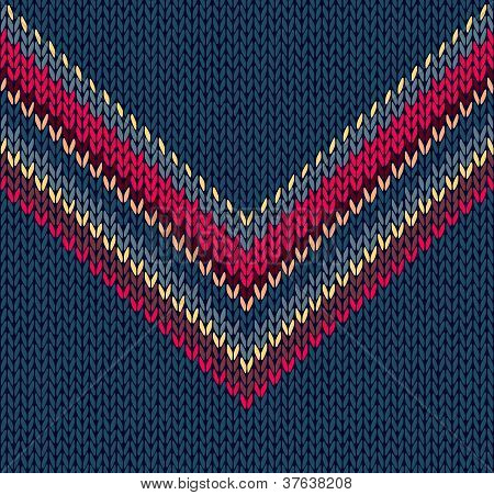 Original Fashion Abstract Background, Vector Drawing Handsome Striped Neck Sweater, Seamless Pattern