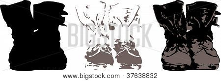Download image of Combat Boots Stencil