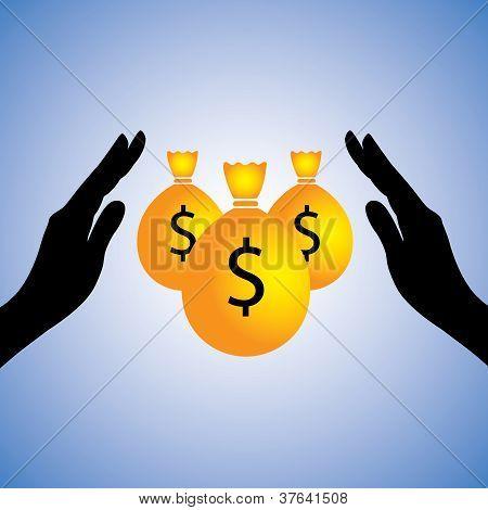 Concept Illustration Of Saving Money(dollar).