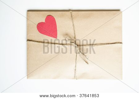 Kraft bag with heart