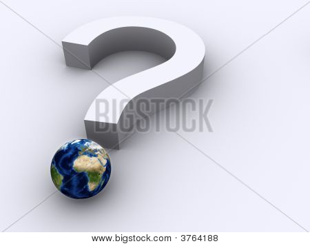 Question Mark And Earth