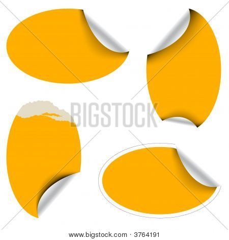 Orange Oval Labels
