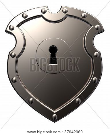 Metal Shield With Keyhole