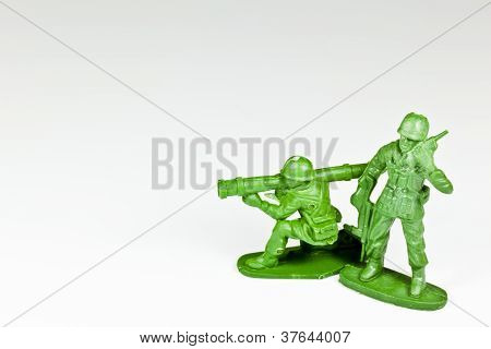 Two Plastic Toy Soldiers
