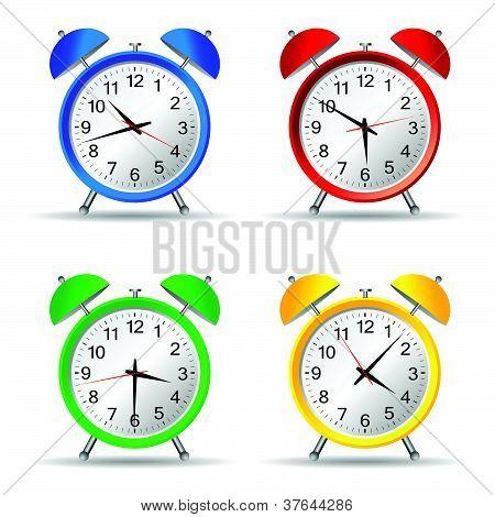 Beauty Clock Vector Illustration