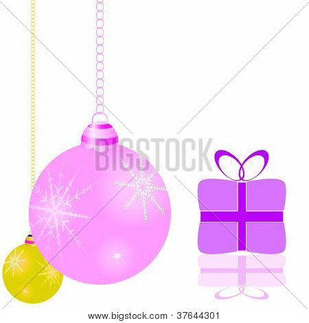 Decorations For The Christmas Tree And Packages Vector