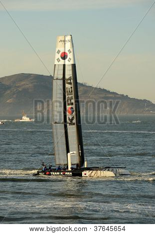 Team Korea Saiboat In America's Cup 2012