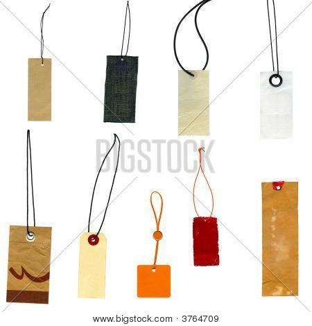 Colección de etiquetas etiquetas de Prise aislado en blanco