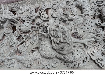 Carved Stone Dragons