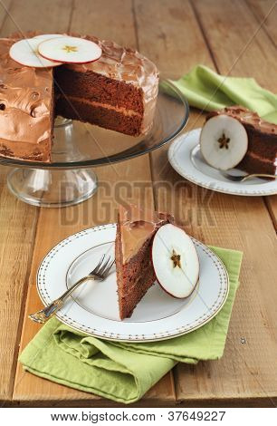 Chocolate Applesauce Layer Cake