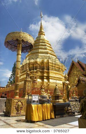 buddhistischer Tempel auf Doi Suthep thailand
