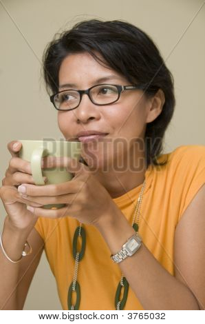 Female Portrait With Cup