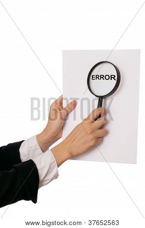 paper with description of error