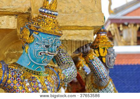 Giant Statue Of A Beautiful Pagoda In Wat Phra Kaew
