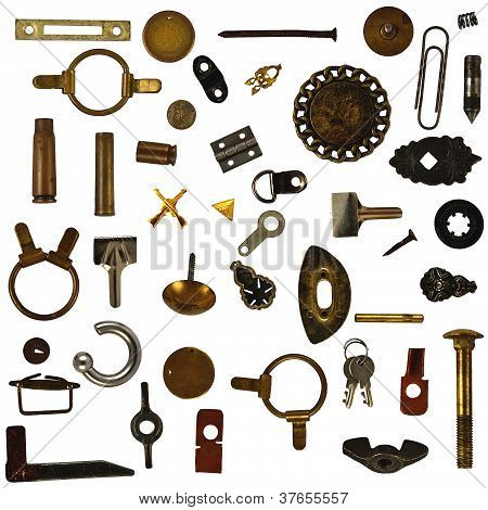 objects isolated on white background