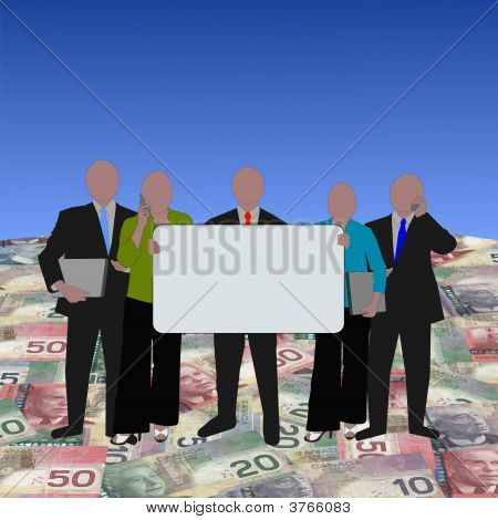 Canadian Business Team On Dollars
