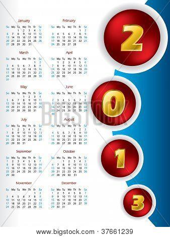 2013 Button Calendar