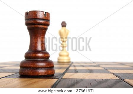 Rook And King On Chessboard