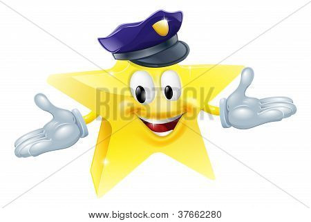 Police Or Security Star Man