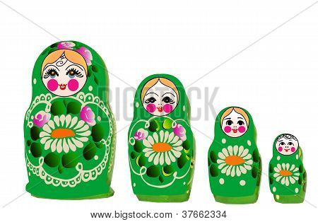 Matryoshka dolls in vector,