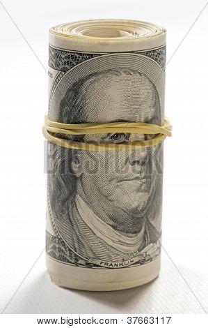 Portrait von Benjamin Franklin Betrachters Rechnungen klerikalen Zahnfleisch