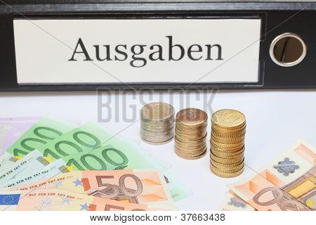 binder with money