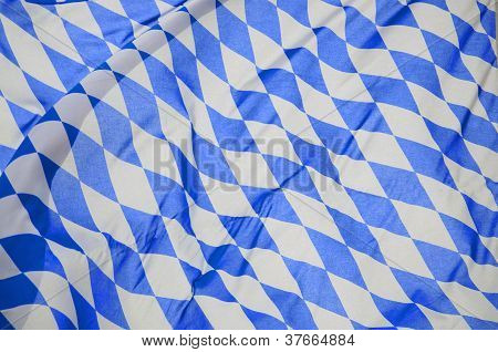 Bavarian Flag In The Wind