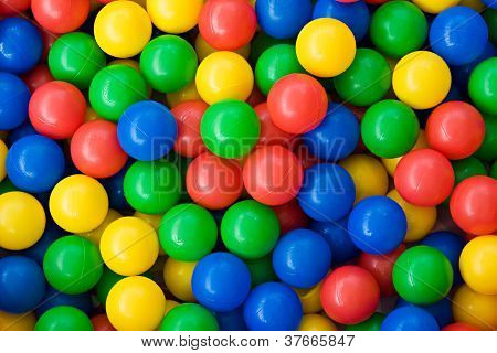 Colourful Rainbow Coloured Balls