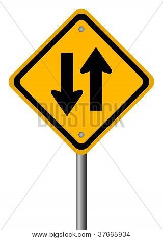 Two way traffic vector sign