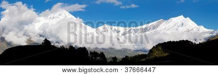 view from annapurna himal to dhaulagiri himal