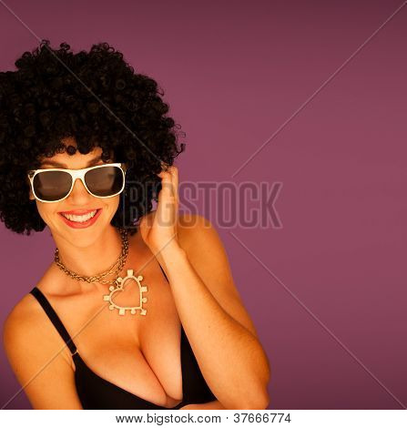 Beautiful Woman With Black Afro