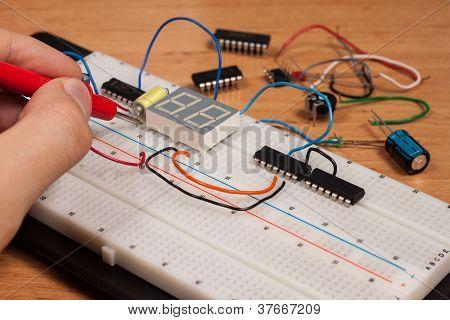 Testing Electrical Circuit On Breadboard
