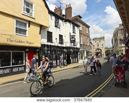 A Sunny Goodramgate Scene, York, England