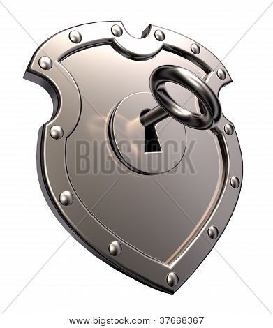 Metal Shield With Lock