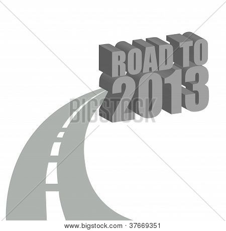 Straße nach 2013 Illustration design