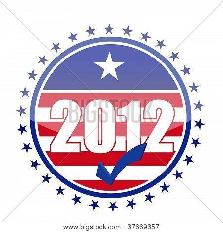2012 Usa Flag Seal Illustration Design