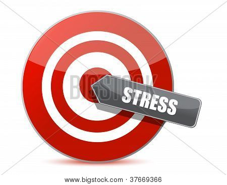 Target Stress Bulls Eye Illustration Design
