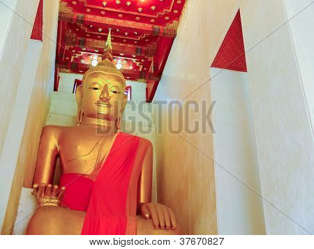 The Buddha Statue At Temple