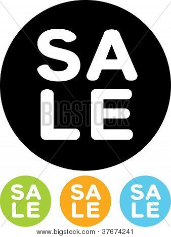 Vector Icon Isolated On White - Sale