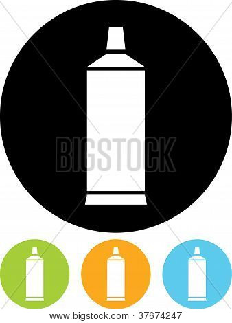 Vector Icon Isolated On White - Tube