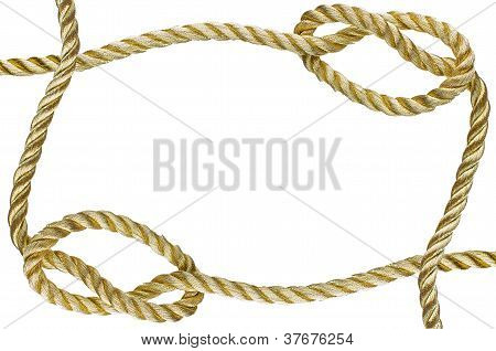 Decorative Frame From A Golden Rope